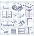 set sketch books vector image vector image