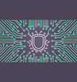 shield network data protection system concept vector image vector image