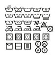 signs on clothing set vector image vector image