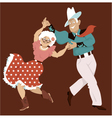 Square dance vector image vector image