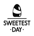 sweet candy day logo simple style vector image vector image