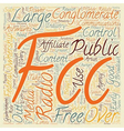 The FCC and Free Speech 1 text background vector image vector image