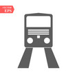 train icontrain on gray background vector image