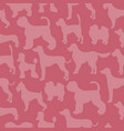 unusual seamless pattern with dog silhouettes vector image vector image