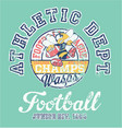 wasps american football team athletic department vector image
