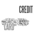 what s the best credit card for me text word vector image vector image