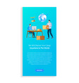 worldwide delivery parcel retail booklet vector image