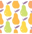 yummy pears seamless pattern background vector image