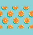 slices of fresh orange summer background vector image