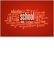 School Word Cloud Bubble Tag Tree vector image