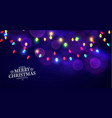 abstract holiday bokeh background christmas vector image