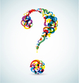 abstract question mark vector image vector image