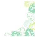 banner template corner decoration of leaf prints vector image