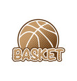 basketball brown logo vector image vector image