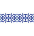 blue decorative line design vector image vector image