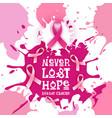 breast cancer awareness month pink ribbon symbol vector image vector image
