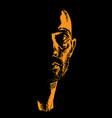brutal man portrait in contrast backlight vector image vector image