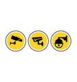 cctv camera icon security video sign cctv vector image vector image
