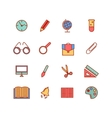 Color set of line icons Back to school vector image vector image