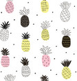 colorful abstract pineapples seamless pattern vector image