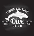dive club summer adventure vector image