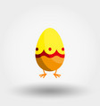 easter egg icon flat vector image vector image