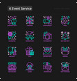 event services thin line icons set vector image vector image