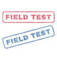 field test textile stamps vector image vector image