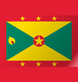 flag grenada flat icon vector image