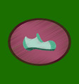 flat shading style icon fashion footwear man shoe vector image vector image