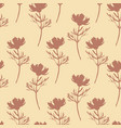 flowers seamless pattern cute botanical vector image vector image