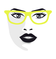Glamor girl wears glasses vector image