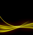 Golden smooth swoosh abstract wave background vector image vector image