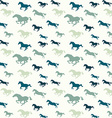 Horses blue pattern vector image