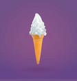 ice cream and cone of ice cream vector image vector image
