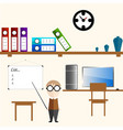 infographics teacher in the room vector image