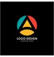 initial a logo circle design vector image vector image