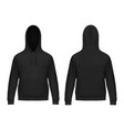 isolated 3d men hoody or realistic man hoodie vector image vector image