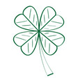 isolated traditional clover outline vector image vector image