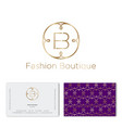 logo f and b monogram fashion beauty pattern vector image