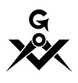 masonic square and compasses sacral emblem of vector image vector image