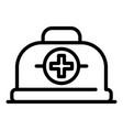 medicine box icon outline style vector image vector image