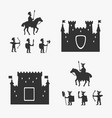 medieval army and ancient castles vector image vector image
