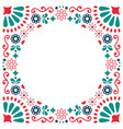 mexican folk greeting card wedding vector image vector image