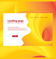 modern trendy landing page and background vector image