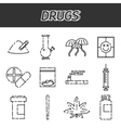 Narcotic drugs icon vector image