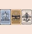 nautical anchor sailboat chain cannon posters vector image vector image