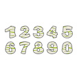 Number of mummy Typography icon in bandages vector image vector image
