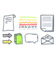 office paper and arrowheads isolated icons vector image vector image