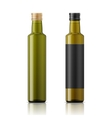 Olive oil bottle template with screw cap vector image vector image